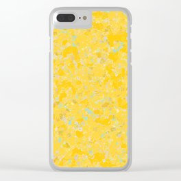 Solar Flare Molten Gold Abstract Clear iPhone Case