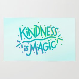 Kindness is Magic Rug