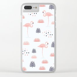Minimal Flamingo Clear iPhone Case