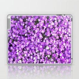 Pretty Purple Flowers, Purple Ground Cover, Beautiful Flowers Laptop & iPad Skin