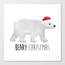 Beary Christmas | Polar Bear Canvas Print
