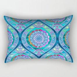 Radiant Boho Color Play Rectangular Pillow