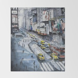 Time square - New York City Throw Blanket