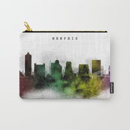 Memphis Watercolor Skyline Carry-All Pouch