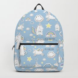 I'm a Unicorn - blue Backpack