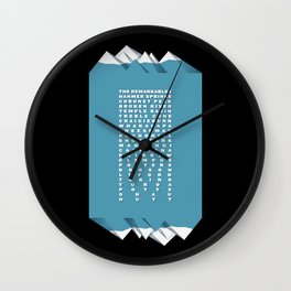 NZ Ski Fields Wall Clock