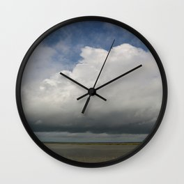 Clouds Over The Marsh Wall Clock