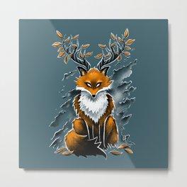 Deer Fox Metal Print