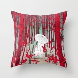 Yuki- onna Throw Pillow
