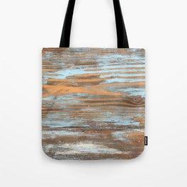 Vintage Wood With Color Splashes Tote Bag