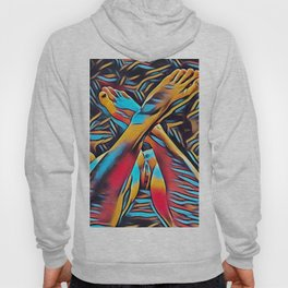 3766s-BH Abstract Leg Arch Vulva Art Feet Up Rendered Abstract by Chris Maher Hoody