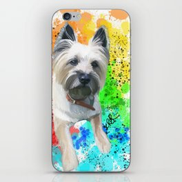 Rainbow Cairn Terrier Toto iPhone Skin