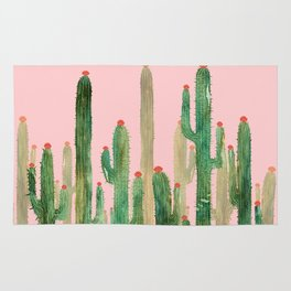 Cactus Four on Pink Rug