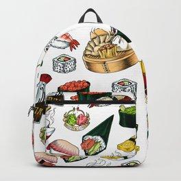 Sushi White Backpack