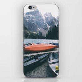 Moraine Lake Canoes iPhone Skin