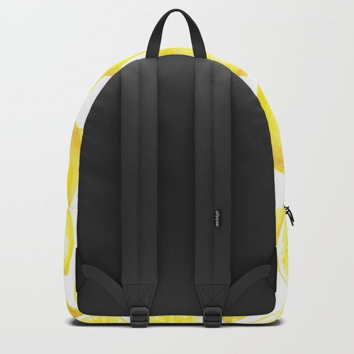 Watercolor lemons design Backpack