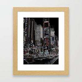 NY Neonlights Framed Art Print