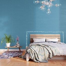 Blue Black Wood Lattice Wallpaper
