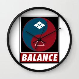 Samurai Balance Wall Clock