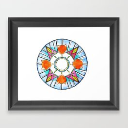 Circle of Foxes Framed Art Print