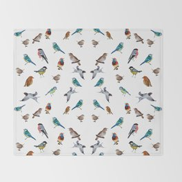 I love birds Throw Blanket