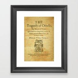 Shakespeare. Othello, 1622. Framed Art Print