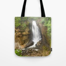 Miners Falls - Pictured Rocks Waterfall, Michigan Tote Bag