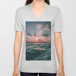 Sunset Tide Unisex V-Neck