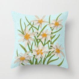 Edelweiss Throw Pillow