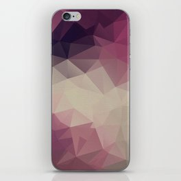 Polygon pattern . Triangles with a texture craquelure . iPhone Skin