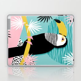 Loopy - wacka designs abstract bird toucan tropical memphis throwback retro neon 1980s style pop art Laptop & iPad Skin