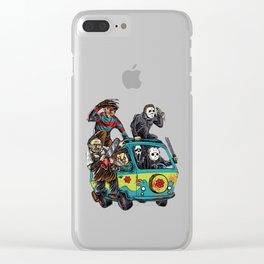 The Massacre Machine Horror Clear iPhone Case