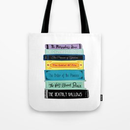 Hogwarts Stack of Wizardly Books Tote Bag