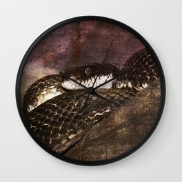 Snakestress At Large Wall Clock