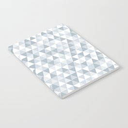 shades of ice gray triangles pattern Notebook