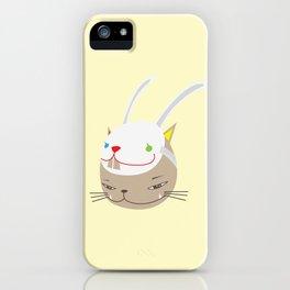 CAT WITH RABBITZ MASK iPhone Case