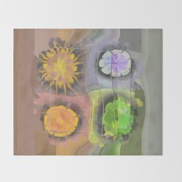 Stibiated In Dishabille Flower  ID:16165-125308-23431 Throw Blanket