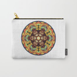 Metta Mandala White Carry-All Pouch