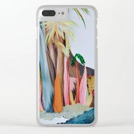 Jungle Landscape Clear iPhone Case