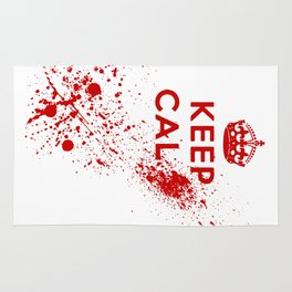 Keep Calm Blood Splatter Rug