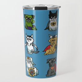 Superhero Puppies Travel Mug