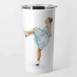Figure Skating Heel Grab Travel Mug