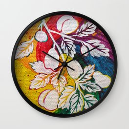 Leaves on the World Tree: Circassian Cork Oak with Mixed Fruit Wall Clock