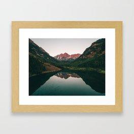 Maroon Bells Sunrise Reflection Framed Art Print