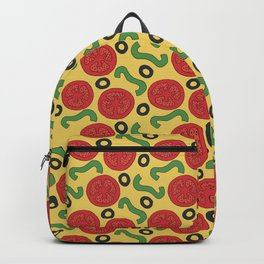 Pizza Topping Pattern Backpack