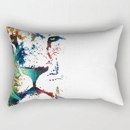 Colorful Lion Art By Sharon Cummings Rectangular Pillow