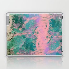 Pink and Green Paint Laptop & iPad Skin