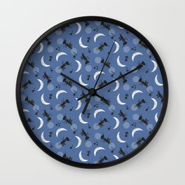 Moonlight Cricket Serenade Wall Clock
