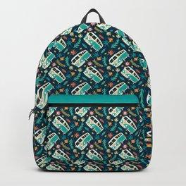 Retro Van Floral Pattern Backpack