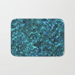 Abalone Shell | Paua Shell | Cyan Blue Tint Bath Mat